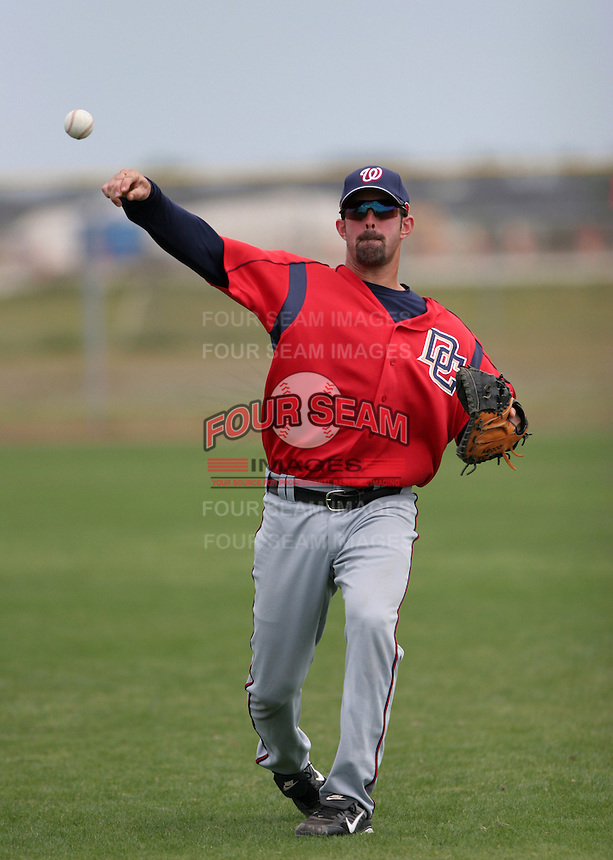 Washington Nationals minor leaguer Devin Ivany during Spring Training at the Carl Barger Training Complex on March 19, 2007 in Melbourne, Florida.  (Mike Janes/Four Seam Images)