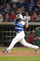 Seton Hall Pirates designated hitter Alex Falconi #47 at bat during a game against the Ohio State Buckeyes at the Big Ten/Big East Challenge at Florida Auto Exchange Stadium on February 18, 2012 in Dunedin, Florida.  (Mike Janes/Four Seam Images)