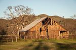 Wooden barn in the Coast Range near Elk Creek, Calif.
