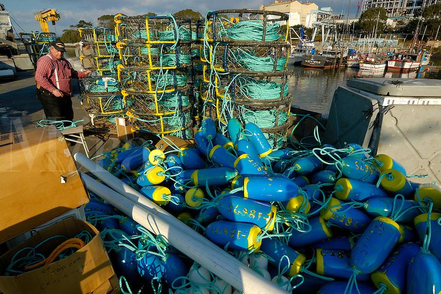 Crab fishing, Monterey, California