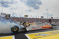 Jun. 3, 2012; Englishtown, NJ, USA: NHRA top fuel dragster driver Clay Millican during the Supernationals at Raceway Park. Mandatory Credit: Mark J. Rebilas-