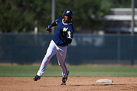 Milwaukee Brewers Yerald Martinez (17) during an instructional league game against the Cleveland Indians on October 8, 2015 at the Maryvale Baseball Complex in Maryvale, Arizona.  (Mike Janes/Four Seam Images)