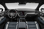 Stock photo of straight dashboard view of 2021 Volvo V60 R-Design 5 Door Wagon Dashboard