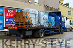 Bank Of Ireland Dismantling: A Northern Ireland registered truck taking away the contents including the ATM Machine of the Ballybunion Branch of the Bank Of Ireland on Tuesday morning last.