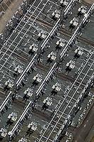 aerial photograph PG&E electrical substation Petaluma, Sonoma county, California