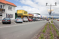 Waihi Street Scene, north island, Coromandel Region, New Zealand.