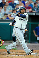 Tacoma Rainers designated hitter Luis Jimenez #53 during the Triple-A All-Star game featuring the Pacific Coast League and International League top players at Coca-Cola Field on July 11, 2012 in Buffalo, New York.  PCL defeated the IL 3-0.  (Mike Janes/Four Seam Images)
