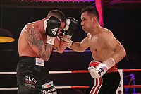 19th December 2020, Hamburg, Germany; Universal Boxing Promotion fight, Felix Sturm versus Timo Rost; Rost with a right cross shot