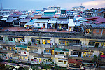 Phnom Penh Apartment Building at Dusk