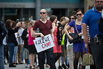 © Joel Goodman - 07973 332324 . 23/07/2016 . Salford , UK . Supporters queue for the event . Jeremy Corbyn launches his campaign to be re-elected Labour Party leader , at the Lowry Theatre at Salford Quays . Photo credit : Joel Goodman