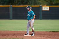 AZL Mariners Cody Grosse (6) stands on second base during an Arizona League game against the AZL Giants Orange on July 18, 2019 at the Giants Baseball Complex in Scottsdale, Arizona. The AZL Giants Orange defeated the AZL Mariners 7-4. (Zachary Lucy/Four Seam Images)