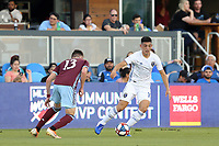 SAN JOSE, CA - JULY 27: Cristian Espinoza during a Major League Soccer (MLS) match between the San Jose Earthquakes and the Colorado Rapids on July 27, 2019 at Avaya Stadium in San Jose, California.