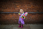 © Joel Goodman - 07973 332324 . 27/08/2016 . Manchester , UK . A girl dressed as a fairy at preparations ahead of the annual Pride Parade through Manchester City Centre as part of Manchester Gay Pride's Big Weekend . Photo credit : Joel Goodman