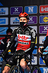 Tim Wellens (BEL) Lotto-Soudal at sign on before the start of the 76th edition of Omloop Het Nieuwsblad 2021 running 200km from Gent to Ninove, Belgium. 27th February 2021  <br /> Picture: Serge Waldbillig | Cyclefile<br /> <br /> All photos usage must carry mandatory copyright credit (© Cyclefile | Serge Waldbillig)