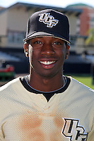 UCF Knights shortstop Darnell Sweeney #21 poses for a photo after a game against the Siena Saints at the UCF Baseball Complex on March 4, 2012 in Orlando, Florida.  Central Florida defeated Siena 15-2.  (Mike Janes/Four Seam Images)