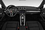 Stock photo of straight dashboard view of a 2018 Porsche 718 Boxster Base 2 Door Convertible