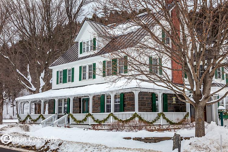 Christmas at the Three Stallion Inn in Randolph, VT