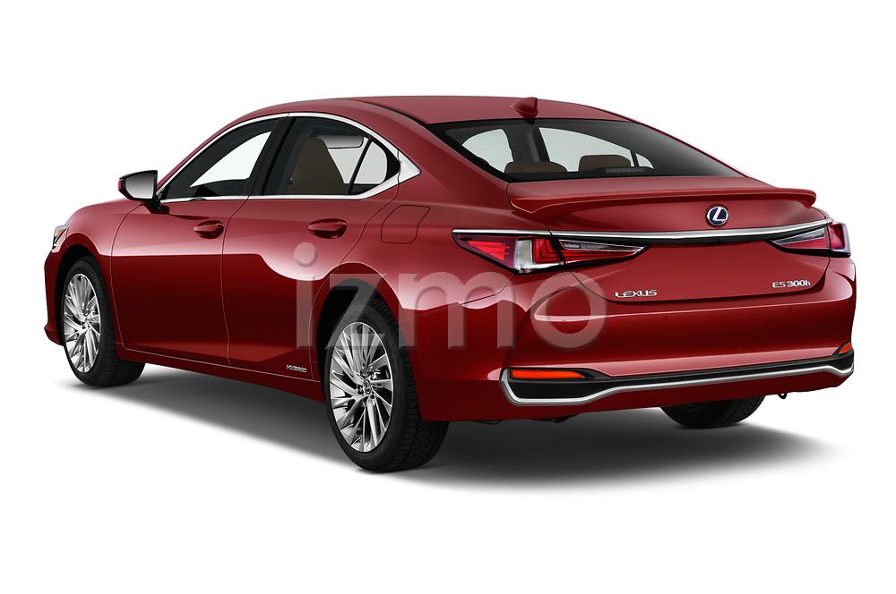 Car pictures of rear three quarter view of 2019 Lexus ES 300h-Privilege-Line 4 Door Sedan Angular Rear