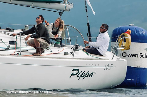 Gareth Martel's First 40.7 Pippa Photo: courtesy Yachting Images