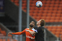 Blackpool's CJ Hamilton vies for possession with Milton Keynes Dons' Dean Lewington<br /> <br /> Photographer Kevin Barnes/CameraSport<br /> <br /> The EFL Sky Bet League One - Blackpool v Milton Keynes Dons - Saturday 24 October 2020 - Bloomfield Road - Blackpool<br /> <br /> World Copyright © 2020 CameraSport. All rights reserved. 43 Linden Ave. Countesthorpe. Leicester. England. LE8 5PG - Tel: +44 (0) 116 277 4147 - admin@camerasport.com - www.camerasport.com