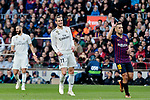 FC Barcelona's Jordi Alba and Real Madrid's Gareth Bale during La Liga match between FC Barcelona and Real Madrid at Camp Nou Stadium in Barcelona, Spain. October 28, 2018. (ALTERPHOTOS/A. Perez Meca)