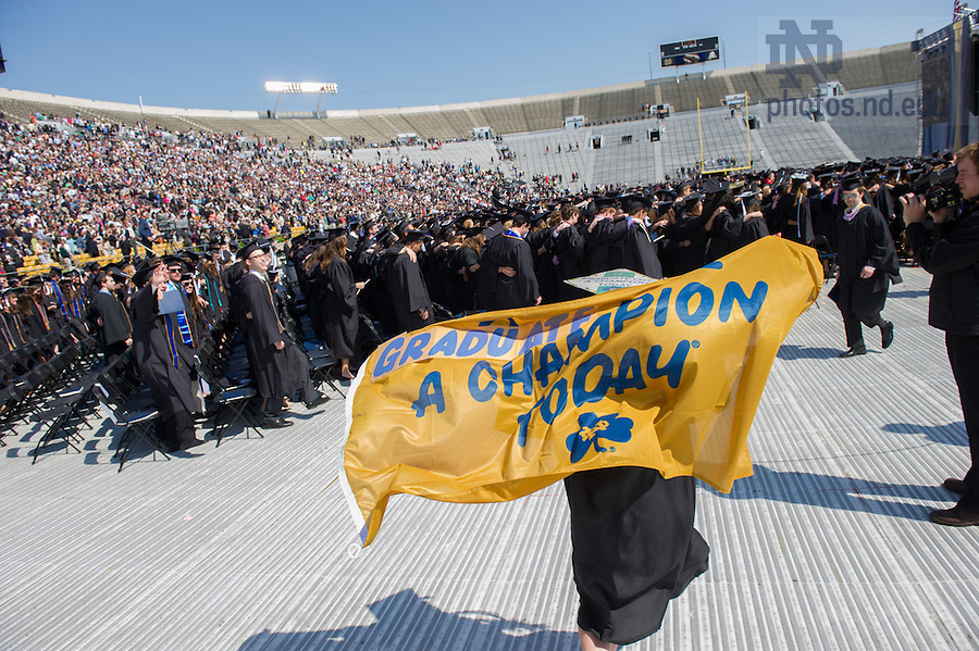 May 18, 2014; 2014 Commencement ceremony. Photo by Matt Cashore/University of Notre Dame