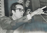 Former Quebec premier Robert Bourassa, who was defeated in November election that brought the Parti Quebec cois to power, has aroused speculation that he may try to regain the leadership of Quebec Liberals early next year.<br /> <br /> 1976<br /> <br /> PHOTO :  Dick Darrell - Toronto Star Archives - AQP