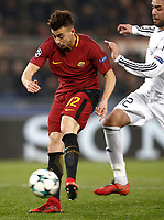 Football Soccer: UEFA Champions League AS Roma vs Qarabag FK Stadio Olimpico Rome, Italy, December 5, 2017. <br /> Roma's Stephan El Shaarawy (l) in action with Quarabag's Elvin Yunuszada (r) during the Uefa Champions League football soccer match between AS Roma and Qarabag FK at at Rome's Olympic stadium, December 05, 2017.<br /> UPDATE IMAGES PRESS/Isabella Bonotto