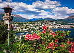 Schweiz, Tessin, Blick von Paradiso auf Lugano | Switzerland, Ticino, view from Paradiso towards Lugano