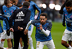 Real Madrid CF's Dani Carvajal  warms up before the Spanish La Liga match round 20 between Real Madrid and Granada CF at Santiago Bernabeu Stadium in Madrid, Spain