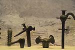 Israel, Judean Desert, ritual objects from the Chalcolithic Temple in Ein Gedi found at the Cave of the Treasure in Nahal Mishmar, on display at the Israel Museum