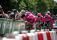 Team EF Education First - Drapac p/b cannondale during their final KM.<br /> <br /> Stage 3 (Team Time Trial): Cholet > Cholet (35km)<br /> <br /> 105th Tour de France 2018<br /> ©kramon
