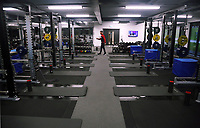 The gym is prepared during the Swansea City Training at The Fairwood Training Ground, Swansea, Wales, UK. Wednesday 22 November 2017