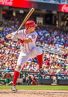 25 July 2013: Washington Nationals third baseman Ryan Zimmerman at bat during a game against the Pittsburgh Pirates at Nationals Park in Washington, DC. The Nationals salvaged the last game of their series, winning 9-7 ending their 6-game losing streak. Mandatory Credit: Ed Wolfstein Photo *** RAW (NEF) Image File Available ***