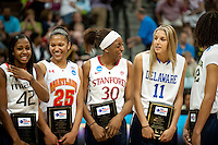 DENVER, CO--WBCA All American Awards for the 2012 NCAA Women's Final Four in Denver, CO.