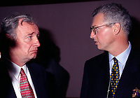June 1996 File Photo of Paul Martin (L) and Andre Desmarais, son of Paul Desmarais.<br /> <br /> Paul Desmarais passed away October 10, 2013. He was 86 years old