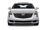 Car photography straight front view of a 2018 Cadillac XTS Luxury 4 Door Sedan