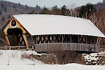 Fresh snow on the Squam River Bridge in Holderness, Lakes Region, NH