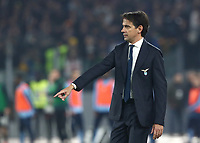 Football, Serie A: S.S. Lazio - Juventus Olympic stadium, Rome, December 7, 2019. <br /> Lazio's coach Simone Inzaghi speaks with his players during the Italian Serie A football match between S.S. Lazio and Juventus at Rome's Olympic stadium, Rome on December 7, 2019.<br /> UPDATE IMAGES PRESS/Isabella Bonotto