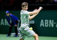 Februari 09, 2015, Netherlands, Rotterdam, Ahoy, ABN AMRO World Tennis Tournament, Dominic Thiem (AUT)<br /> Photo: Tennisimages/Henk Koster