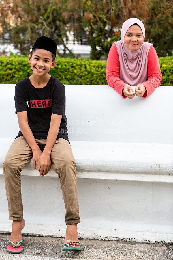 George Town, Penang, Malaysia,  Young Malaysian Children.