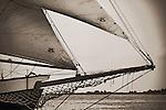 Schooner Pride sunset sailboat in the Charleston Harbor tall ship