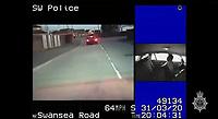 2020 07 22 Police footage, Merthyr Tydfil, Wales, UK