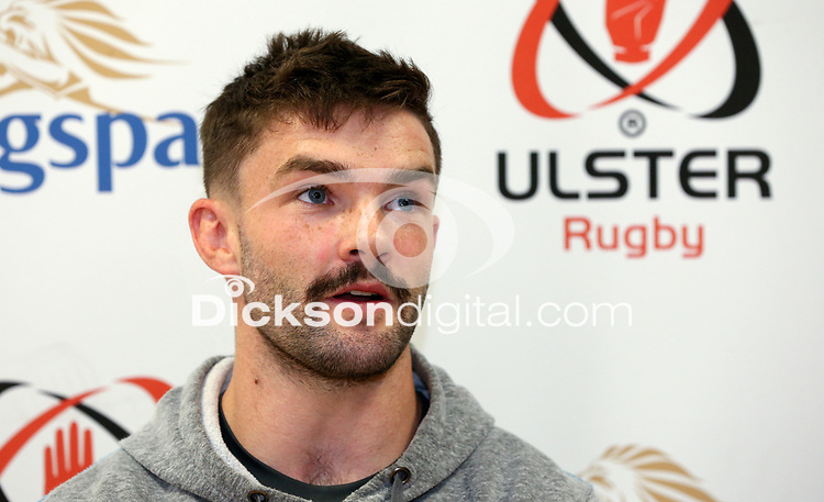 Tuesday 5th November 2019 | Ulster Rugby Match Briefing<br /> <br /> Bill Johnston at the Ulster Rugby Match Briefing held at Kingspan Stadium, Belfast, ahead of Ulster's away fixture against Munster at Thomond Park this Saturday. Photo - John Dickson / DICKSONDIGITAL. <br /> <br /> Photo by John Dickson / DICKSONDIGITAL