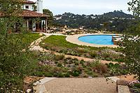 Cistern water storage buried under California garden for water harvest; Urban Water Group design