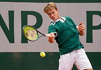 Paris, France, 05 /10/ 2020, Tennis, French Open, Roland Garros, Juniors: Guy de Ouden (NED<br /> Photo: Susan Mullane/tennisimages.com