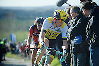 Sep Vanmarcke (BEL/LottoNL-Jumbo) up the Paterberg<br /> <br /> E3 - Harelbeke 2016