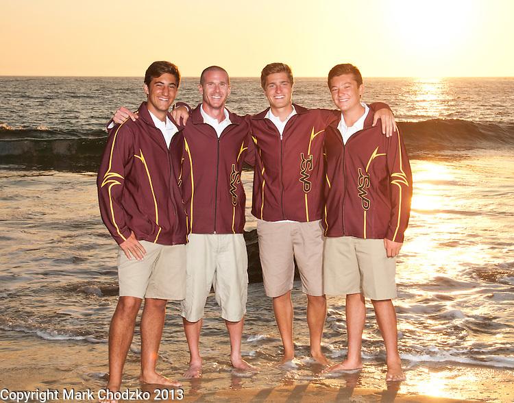 JSearra Catholic High School Team captains and coach.