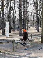 Pensive in the Tuileries