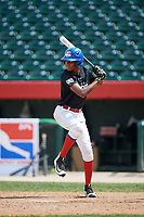 Franyel Baez during the Dominican Prospect League Elite Underclass International Series, powered by Baseball Factory, on August 1, 2017 at Silver Cross Field in Joliet, Illinois.  (Mike Janes/Four Seam Images)